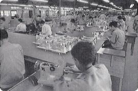 ミシン工場の内部(1963年/昭和38年頃)