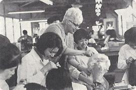 レオンカ女史の指導風景(1967年/昭和42年頃)
